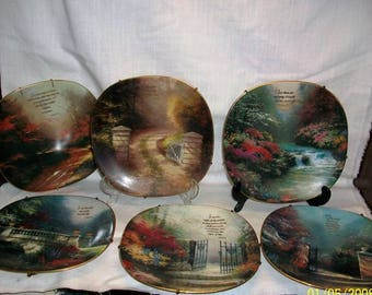 Listing 037 is the Thomas Kinkade Heaven on earth collectors plate from the Bradford Exchange