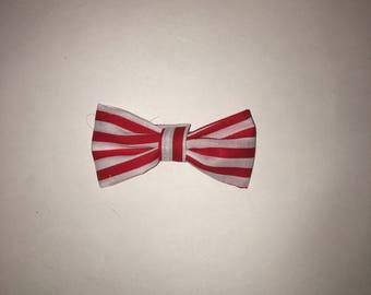 """Red and White Stripe- Mini W- 2.5 """", H-1.5 """""""