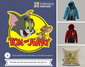 Tom n jerry Applique Embroidery Design