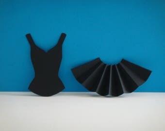 """Dancer skirt set and his black top """"V"""""""
