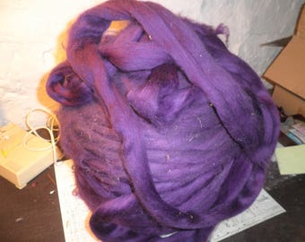 quality purple Merino roving