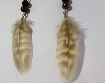 Feather and beads
