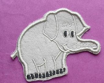 FABRIC FUSIBLE APPLIQUE: elephant grey 65 * 60mm