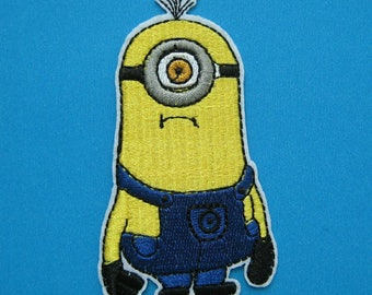 FUSIBLE APPLIQUE: Minion despicable me Cartoon and naughty 90 * 50mm