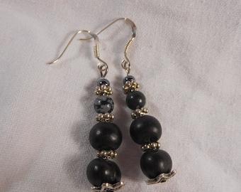 Drop earring - hooks - silver