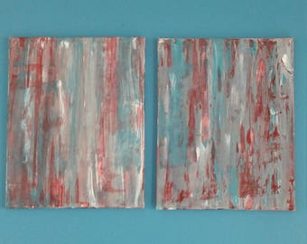 Set of 2 16x20 original abstract paintings