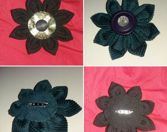 Large Fabric Flower Brooch