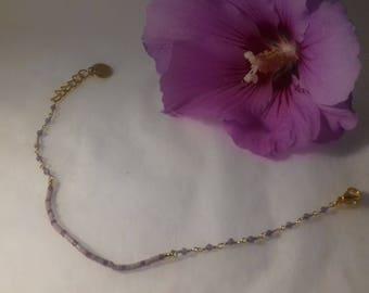 delicate lilac bracelet