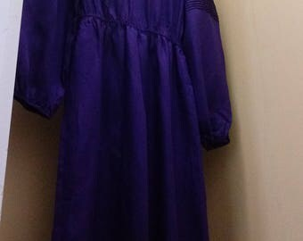 "1970s Deep Purple ""Velma"" Dress & Belt"