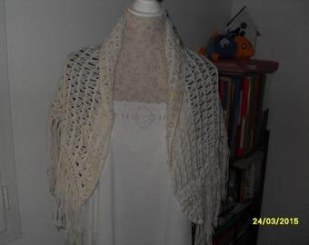 handmade crochet wool shawl
