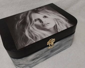 Beautiful Girl Wooden Keepsake Box