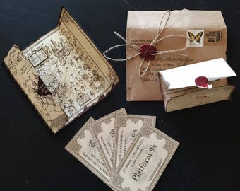 Harry Potter Invitations Hogwarts letter invitations Maurders Map invitations