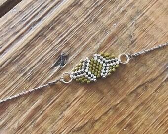 Japanese beads silver bracelet