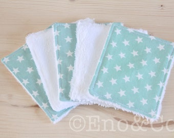 Wipes washable bamboo Terry and cotton