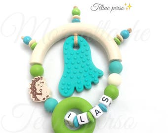 "Special teething rattle personalized ~ model ""Silas"""