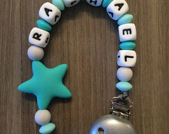 Soother Silicone Turquoise and gray-IDEAL birth gift