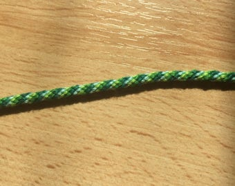 Round green and blue Friendship Bracelet