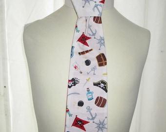 "Boy cotton tie ""Pirate but class"""
