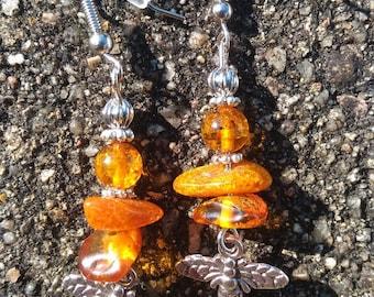 genuine amber earrings