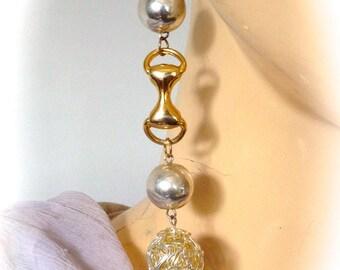 Earrings vintage designer couture modernist