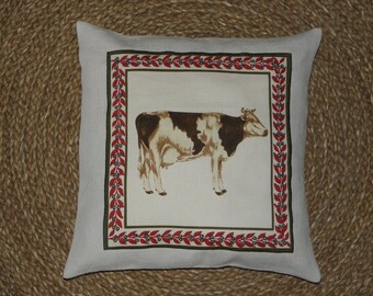 """""""Cow"""" ref.1363 appliqué pillow cover"""