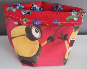 minions fabric basket / storage layers/toiletries/decoration products