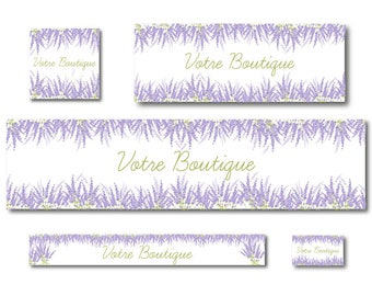 Facebook and Etsy - Shop Lavender banner banners