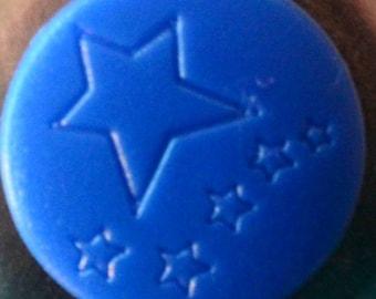 "10 snaps engraved KAM ""Rain DETOILES"" Navy Blue glossy"