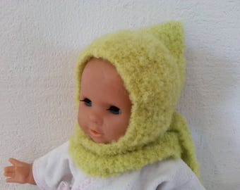 More Hat green scarf burnt from birth to 3 months