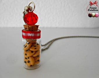 Cookies vial necklace