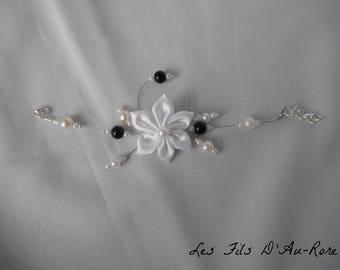 ATHENA pearl bracelet black and Pearl