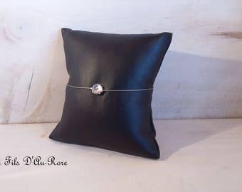 LONG bracelet with silver rhinestones