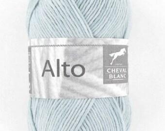 100% cotton crochet yarn wool knitting Viola blue No. 210 horse white n ° 140