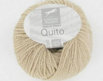 Yarn Alpaca QUITO # 138 camel or beige white horse