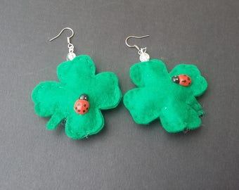 """Miss luck"" earrings"