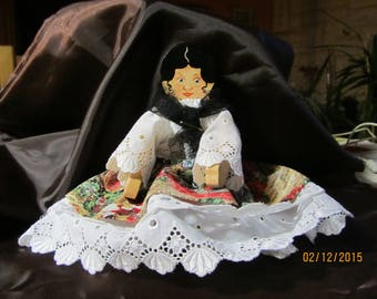 articulated doll depicting a Gypsy costume