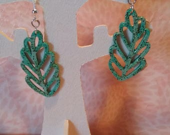 Earrings - oak leaves