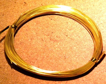 20 meters of thread of aluminum in 0.8 mm gold - plated - wire - BD leaves
