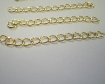 10 50 mm extension Golden extension chain