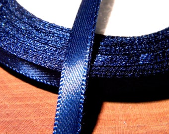 10 M 6 mm - SA8 Navy blue satin ribbon