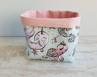 Storage for diapers - animals pattern basket
