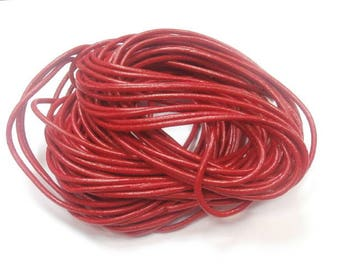 1 meter of 2 mm diameter red leather