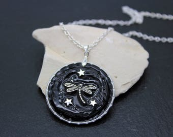 Capsules Nespresso necklace * Dragonfly *.