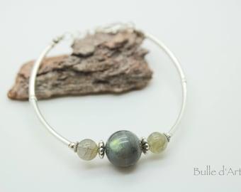 Bracelet 3 Labradorite stones