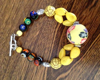 With Central bead fashion bracelet
