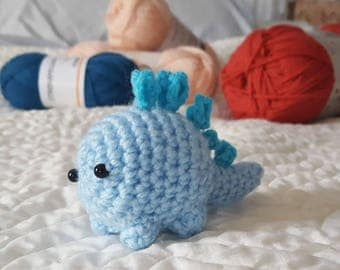 Blue crochet stegosaurus