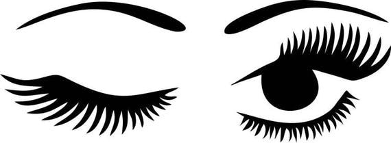winking eyelashes digital download winking eye with lashes ...