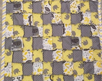 Elephant Themed Baby Quilt
