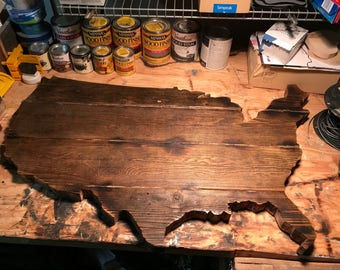 United States of America -reclaimed wood sign.