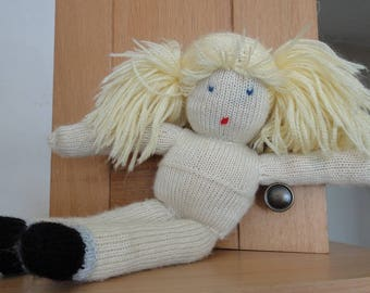 DOLL MADE BY KNITTING - MADE BY MYSELF
